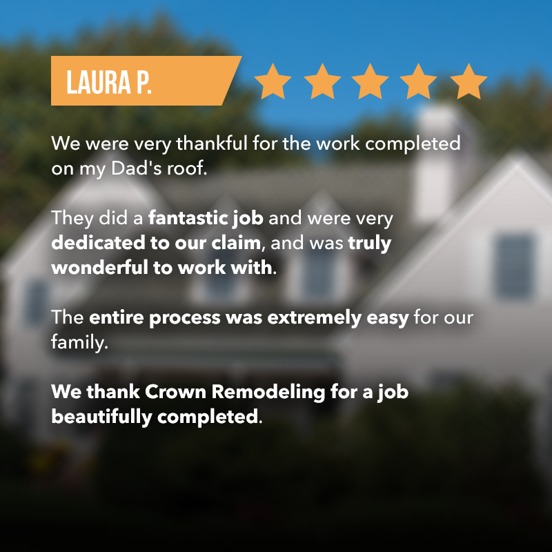 happy roof repair client